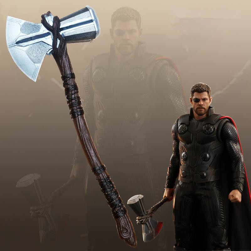 Thor Stormbreaker 1:1 Cosplay 73cm Thor Axe Hammer Movie Thor Stormbreaker Prop Role Playing Weapon Safety PU Kids Gift