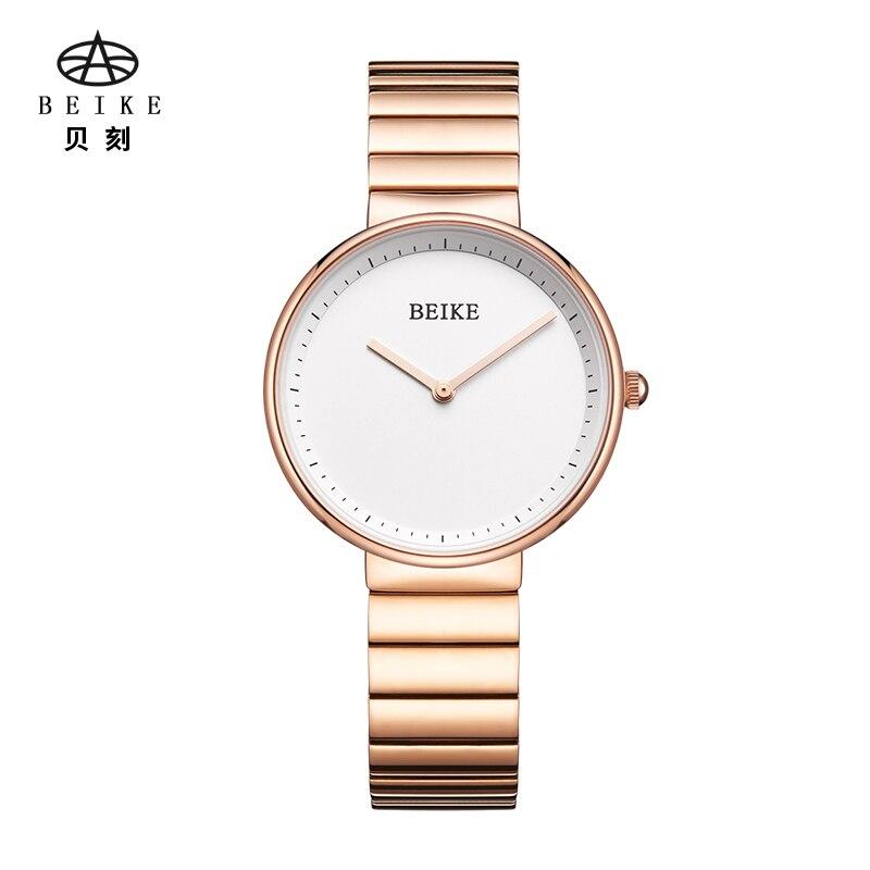 BEIKE Fashion Silver Women Watches 2018 High Quality Ultra thin Quartz Watch Woman Elegant Dress Ladies Watch Montre Femme