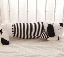 cute cartoon sleeping dog doll large 120 cm prone dog plush toy soft throw pillow , birthday gift  x109