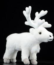цена на Free shipping Nordic reindeer doll White simulation reindeer plush toys simulation wildlife plush toys 24 cm