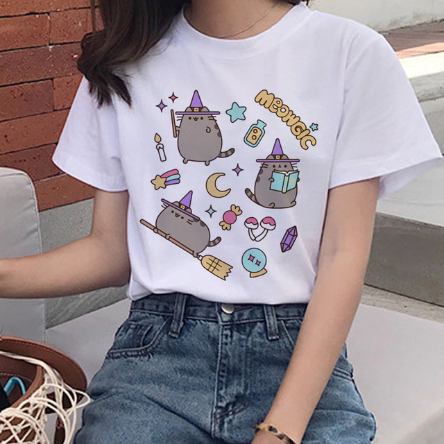 I Am Pusheen The Cat Halloween Cute Casual Loose T-Shirt