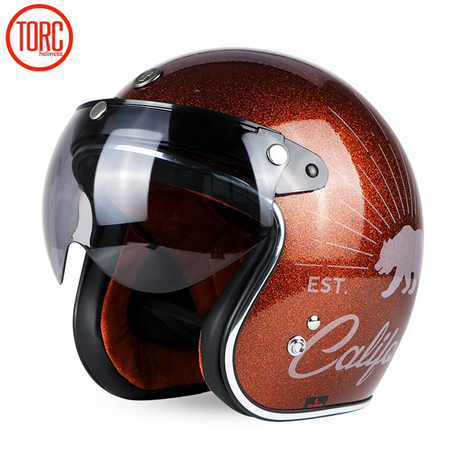 53f52238 Detail Feedback Questions about Free shipping 1pcs TORC DOT 3/4 Open Face  Motorbike Unique Jet Retro Vespa Harley Vintage Motorcycle Helmet With W  shape ...