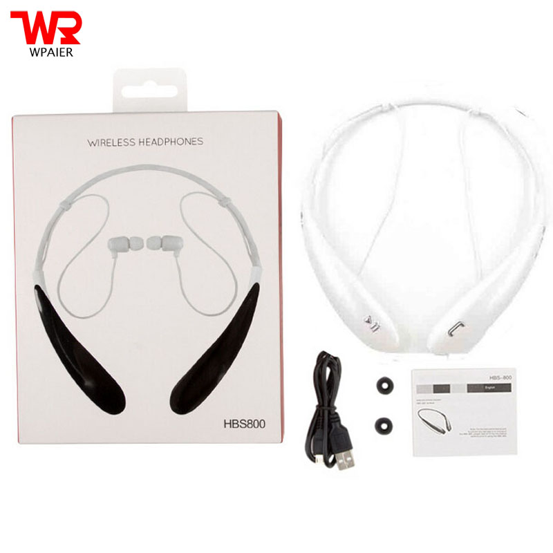 WPAIER HBS-800 Wireless Bluetooth headphones V4.0EDR portable sports Neckband headset stereo HQ earphone Universal type with mic fpv x uav talon uav 1720mm fpv plane gray white version flying glider epo modle rc model airplane