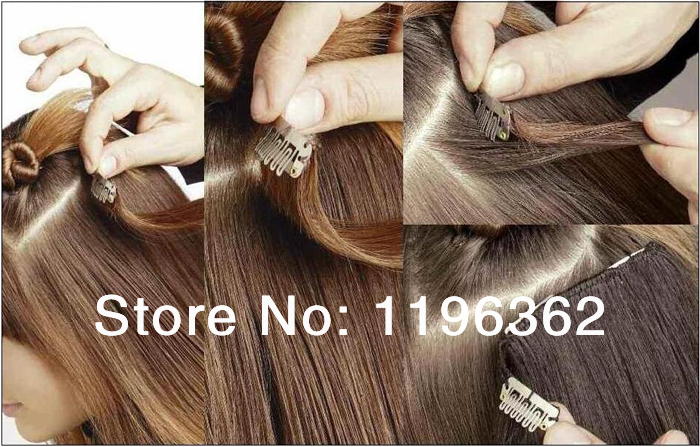 Online Sales Indian Remy Hair Straight Clip In Human Hair Extensions