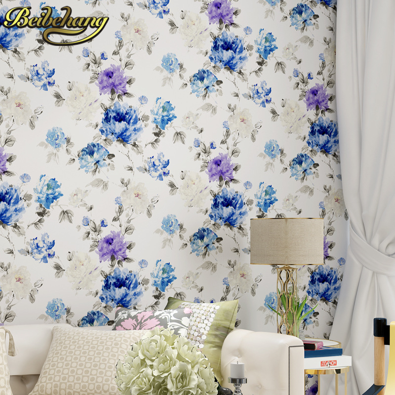 beibehang papel de parede 3d American pastoral PVC wallpaper For living room Bedroom wall papers roll home decor Home Decoration beibehang papel de parede 3d living room bedroom of wall paper roll non woven wallpaper for bedroom living room home decoration