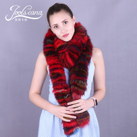 Joolscana real fur scarf women winter scarf long scarves women cape winter cape luxury fox collar warm and fashion style