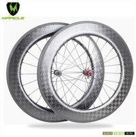 18K Full Carbon Fiber Road Bicycle Wheelset 86mm Tubular Road Carbon Wheelset Basalt Brake Carbon Road