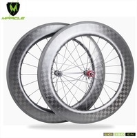 86mm 700c Carbon Road Wheels cycling Basalt 18k weave Road bicycle wheelset Clincher 27mm depth Road Carbon Wheel