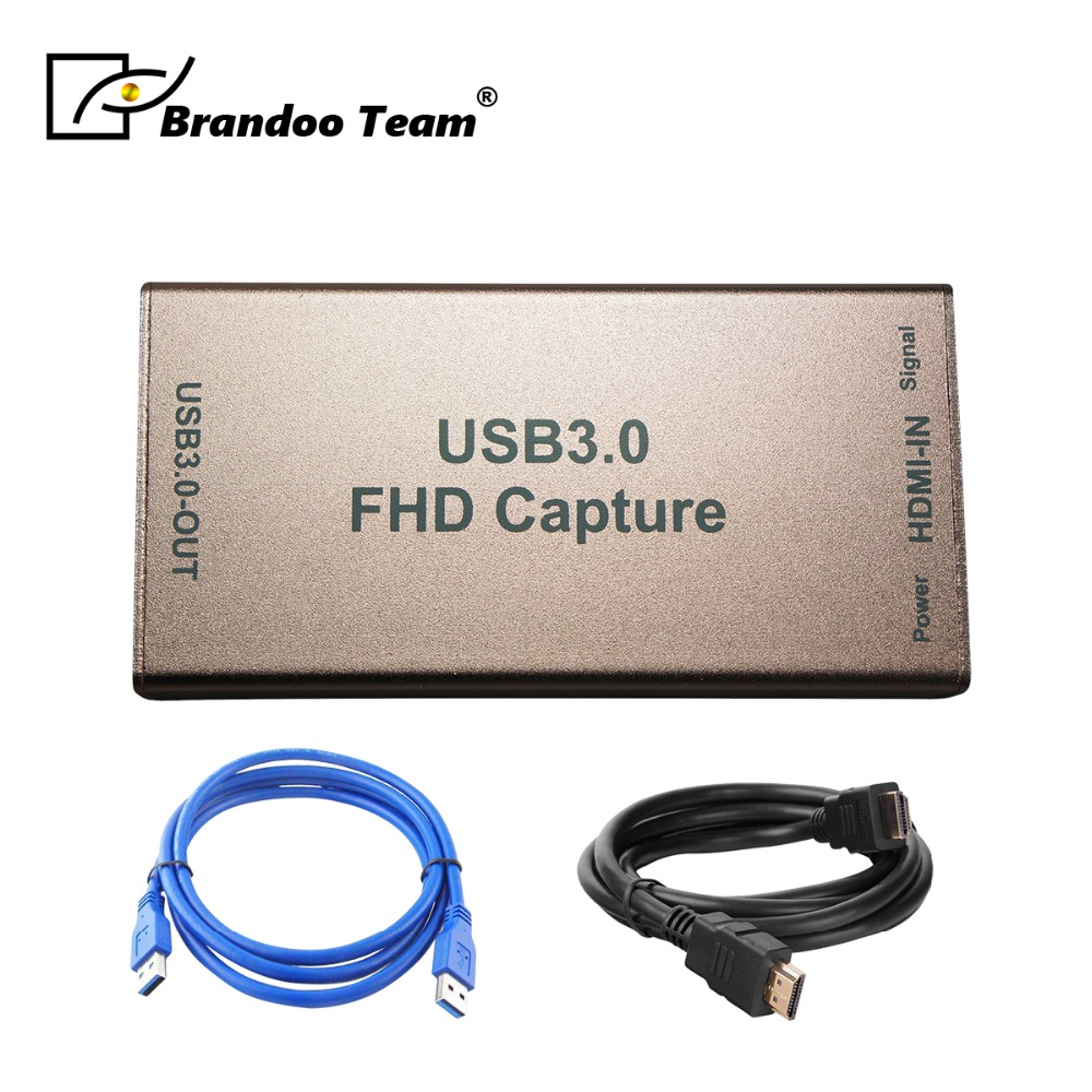 USB 3.0 HD HDMI Capture Card Dongle 1080P Video Audio Adapter for Windows//Linux