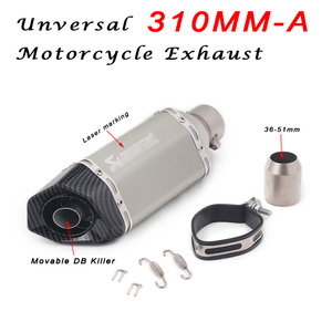 Image 4 - 36~51mm Universal Motorcycle Exhaust 310mm 370mm 470mm Modified Movable DB Killer Modify Motocross Exhaust Muffler