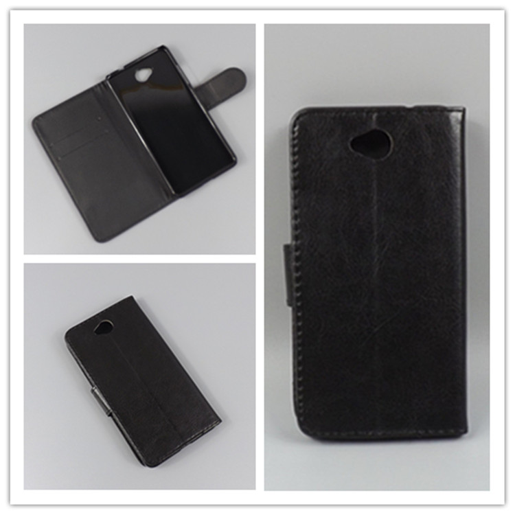 Crystal grain wallet case hold two Cards with 2 Card Holder and pouch slot For Nokia Lumia 650