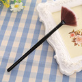 Handle Fan Shape Cosmetic Brush Contour Face Powder Blending Highlighter Makeup Tools Concealer Foundation Kit