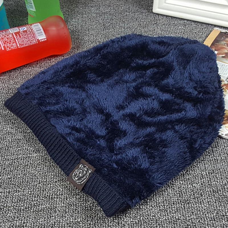 Beanie Knit Hat Men Ерлерге арналған Қысқы - Киімге арналған аксессуарлар - фото 5