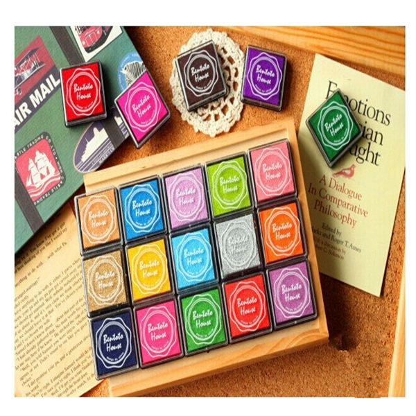 aliexpresscom buy 20pcs hot fashion finger painting color inkpad rubber kids scrapbooking stamps candy color book decoration from reliable decor - Painting Color Book
