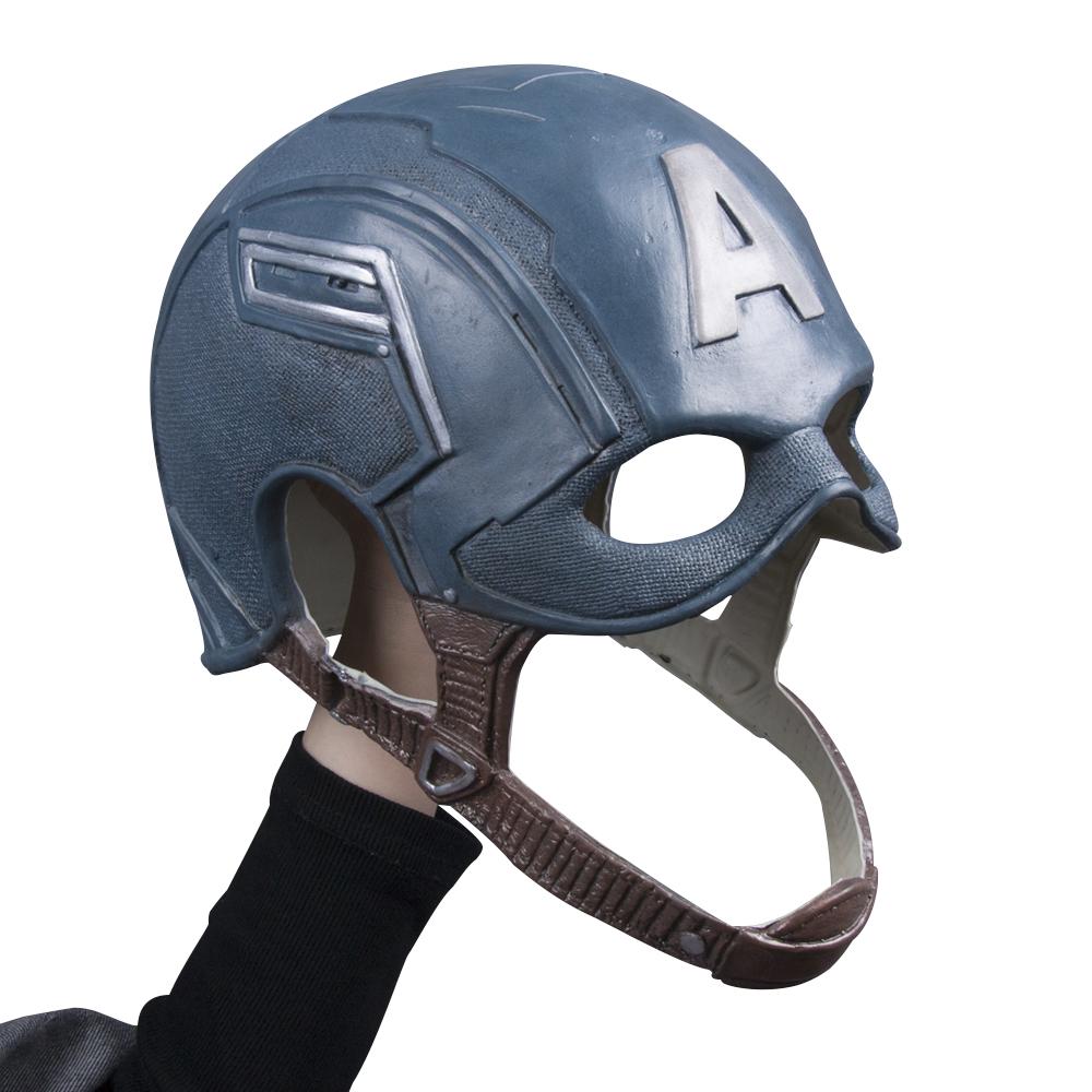 Captain America Civil War Helmet Mask Latex Cosplay Steven Rogers Halloween Helmet For Collection Party (4)
