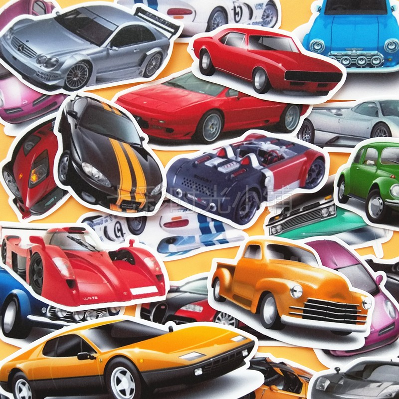 30 Pcs Hand Book Stickers DIY Diary Album Stickers Homemade Car Stickers Package