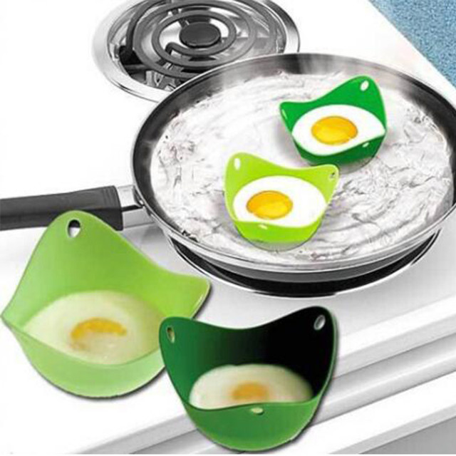 2pcs Lot Silicone Egg Poacher Cups Cookware Microwave Cooker Boiler 301