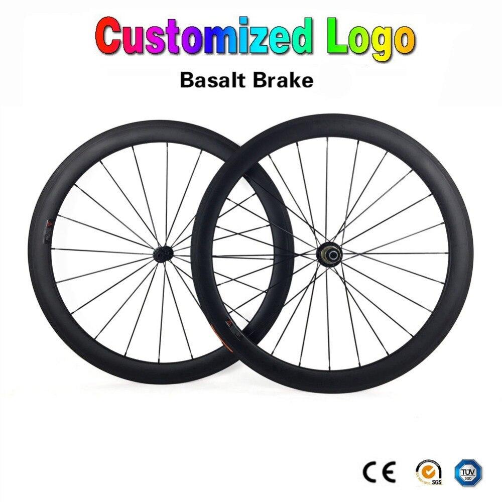 700C углерода дороги велосипед колеса 38/50/60/88 мм Глубина 23 мм ширина 3 К UD матовая Глянцевая Clincher Трубчатые дорожный велосипед колесная логотип
