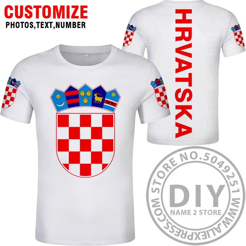 Image 3 - CROATIA t shirt diy free custom name number hrv t shirt nation flag croatian country hrvatska republic print photo logo clothing-in T-Shirts from Men's Clothing