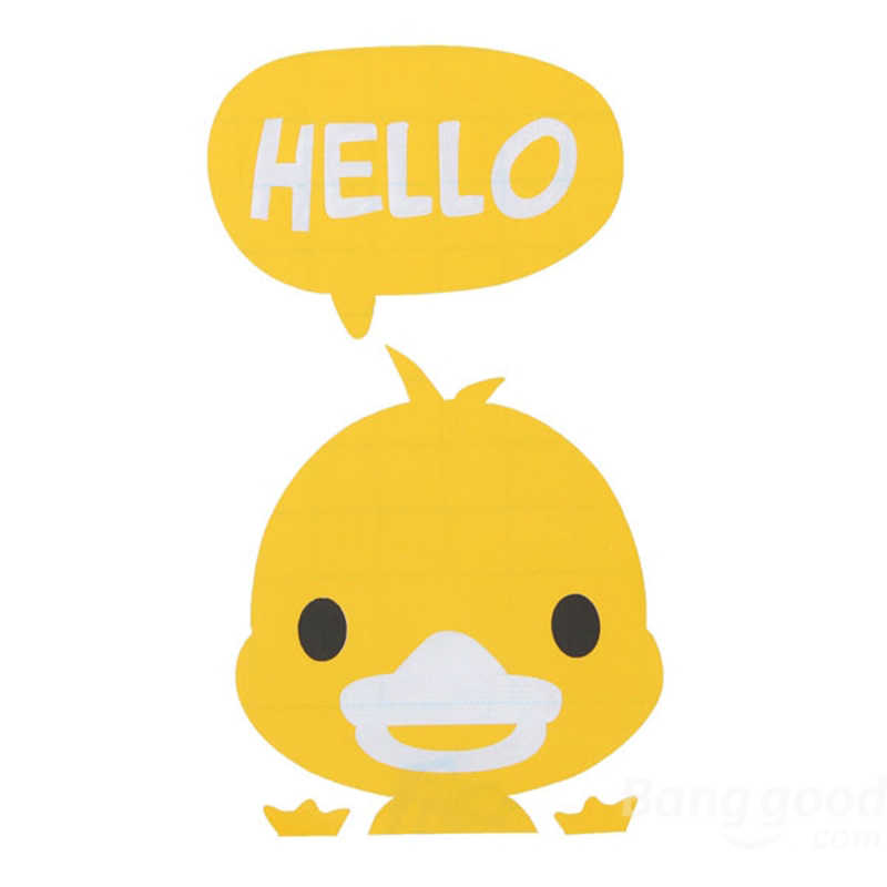 Eshylala 1pc Yellow Duck Switch Sticker Wall Stickers Home Decor