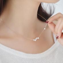 Shuangshuo циркон Звезда Ожерелье s& Кулоны Созвездие колье ожерелье женское ожерелье с длинной цепью ювелирные изделия с чокерами bijoux femme