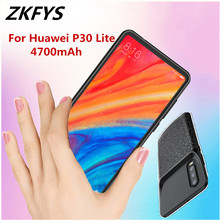 ZKFYS 4700mAh Backup Back Clip Battery Power Bank Charging Case For Huawei P30 Lite Ultra Thin Fast Charge Phone