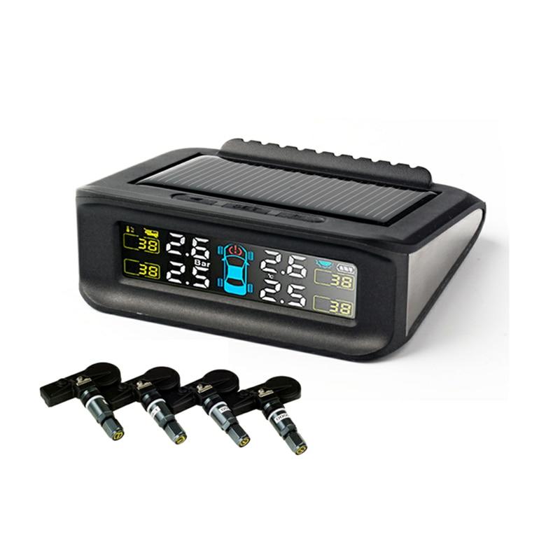 De charge D'énergie solaire Intelligent Voiture TPMS Système de Surveillance De Pression Des Pneus Sans Fil Numérique LCD Affichage D'alarme de Sécurité Automatique systemTP860