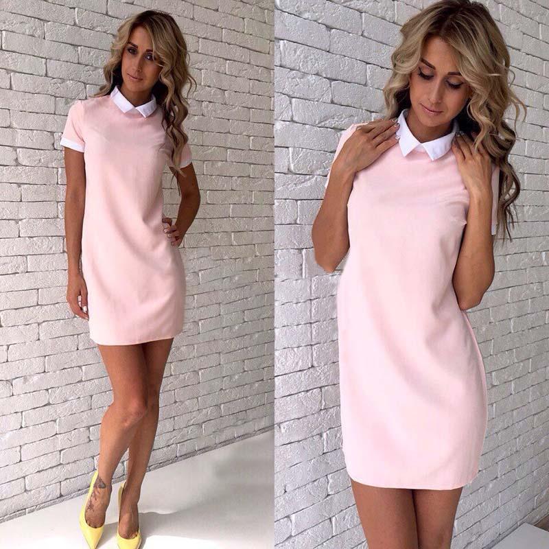 zhishuo Summer Women Casual Style Mini Dresses Plus Size