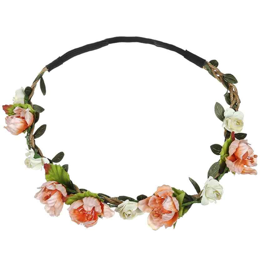 LadyLadies Bloemen Flower Festival Hoofdband Fashion Accessorie Boho Wedding Garland Haar Hoofd Band Beach Party hot koop