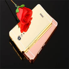 For Lenovo Vibe P2 Case Luxury Protective Gold Aluminum Mirror Back Cover Phone 5.5 inch coque Fundas