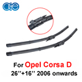 26''+16'' 2pieces/pair wipers for Opel Corsa D 2006 onwards rubber windscreen wipers blades windshield Car accessories, CPB108
