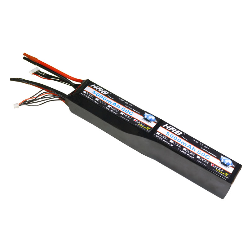 HRB 12S RC Lipo Battery 44.4V 5000mAh 50C Max 100C For Helicopter RC Model Remote Control Drone Fixed Wing Quadcopter