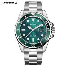 Luxus SINOBI Uhr Männer Drehbare Lünette GMT Edelstahl Uhren Wasserdicht Gold Mans Sport Quarz Uhren Relogio Masculino