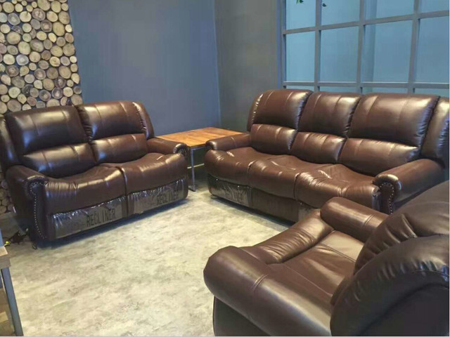 Living Room Sofa Modern Set Recliner With Top Grain Italian Leather