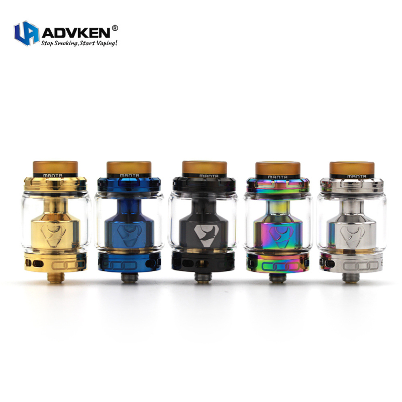 Genuine Advken Manta RTA Atomizer Electronic Cigarette 3.5/5ml 24mm Rebuildable Tank for 510 Vape Mod Vaporizer Kit E Cigarettes
