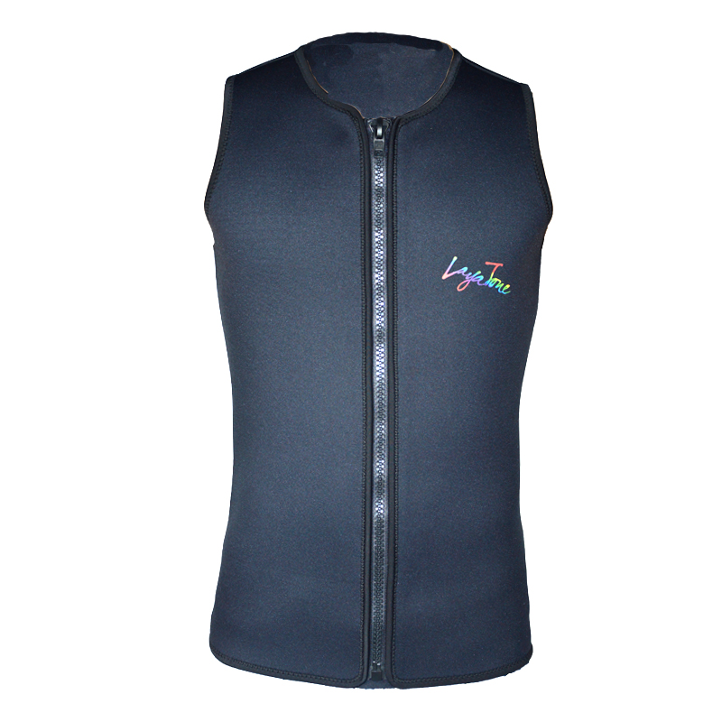 Layatone black men women 3mm neoprene vest for surfing for Women s fishing vest