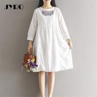 JYRO Brand Mori Women S Dress Spring Recruits Ong Loose Large Size Knee Length Long Sleeve