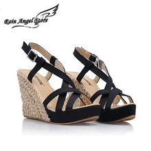 Bohemian Roman Slope Plus Size 34-43 Sexy High Waterproof Sandals 2014 New Women Wedge Pumps Summer Shoes