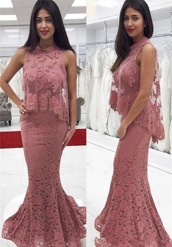 2019 dentelle élégante appliquée mère de la mariée robes sirène longue formelle marraine tenue de femme soirée de mariage invités
