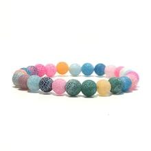 Boho Women Bracelets Beautiful Colored Weathered Agates Ston