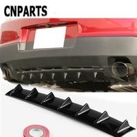 CNPARTS For Kia Rio 3 Ceed Toyota Corolla 2008 Avensis C HR RAV4 Mazda 3 6 Car Rear Bumper 3D Cool Shark Spoiler Stickers