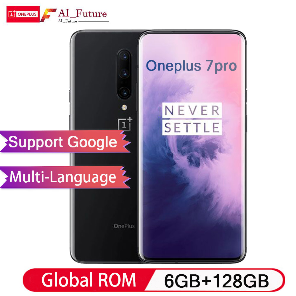 Global ROM Original Oneplus 7 PRO 6 GB 128 GB Smartphone Snapdragon 855 Display AMOLED NFC 6.67 Polegada Fluido Impressão Digital UFS 3.0