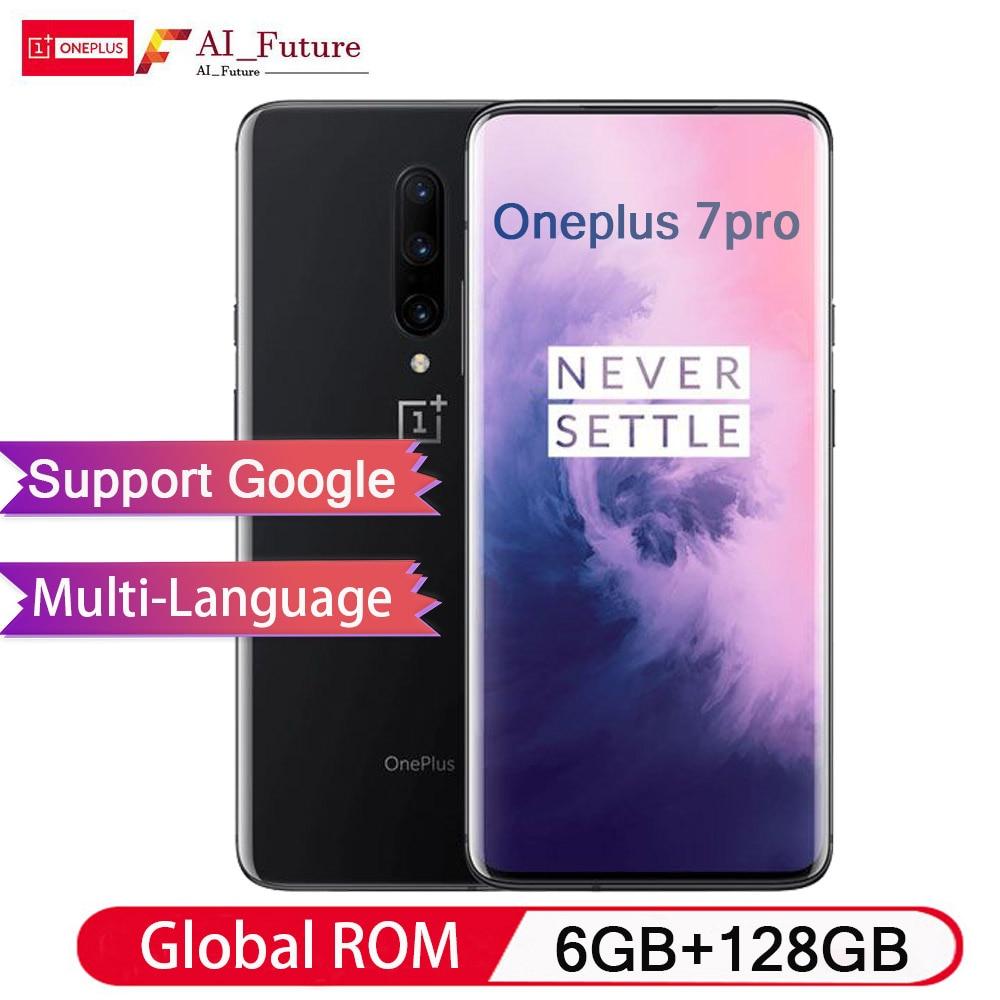 Global ROM Original Oneplus 7 PRO 6GB 128GB Smartphone Snapdragon 855 NFC 6.67 Inch Fluid AMOLED Display Fingerprint UFS 3.0