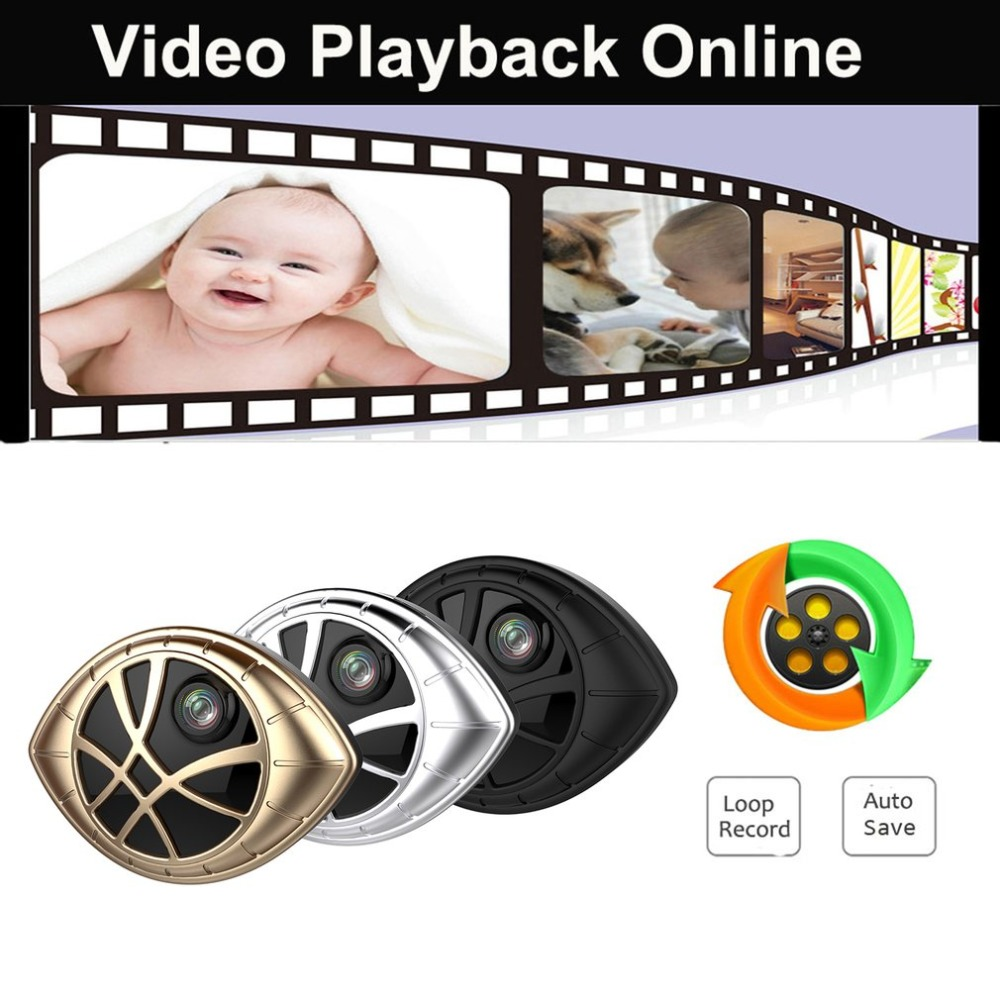 LESHP Mini Camera Eye Shape Monitoring Camera Wireless Video Recorder Micro Camcorder Support Playback and Download