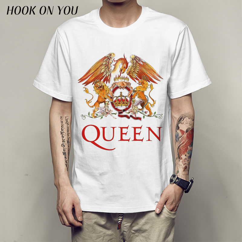 Music rock top100 band queen   t  -  shirt   male short-sleeve new arrival Fashion Brand   t     shirt   for men top tees
