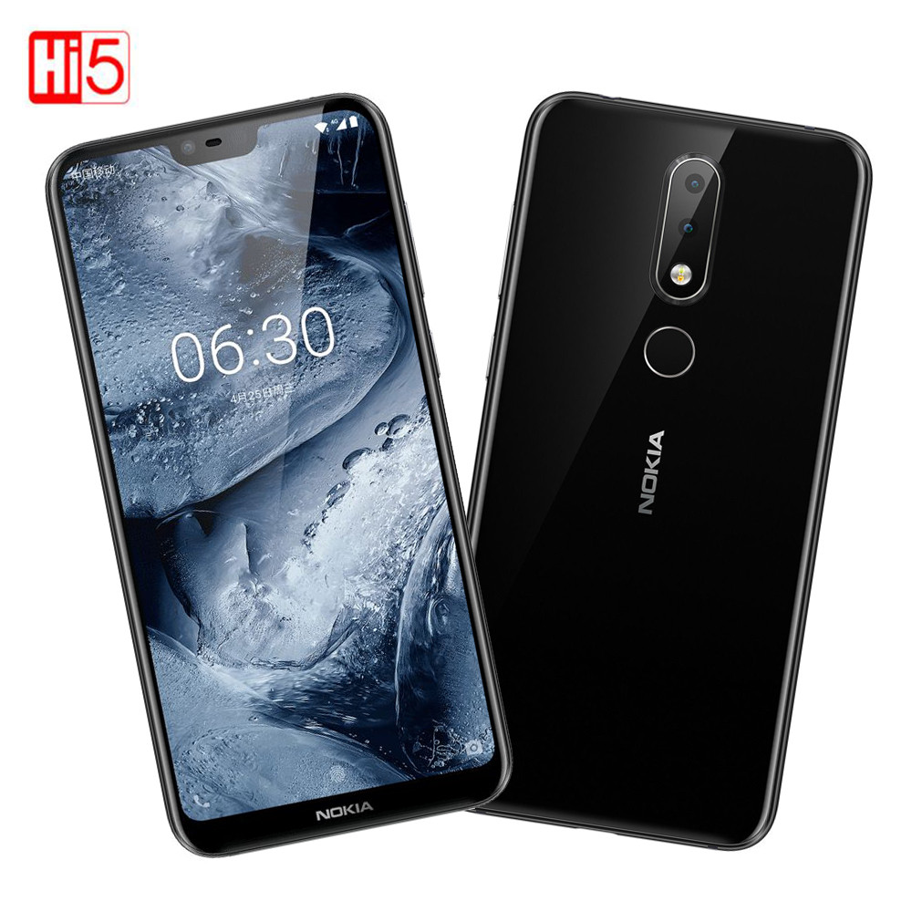 Nokia X6 2018 Original Unlocked Moble phone AI Facial Recognition 5.8 3060mAh 4GB/6GB RAM 64GB ROM Dual SIM Nokia 6.1 Plus