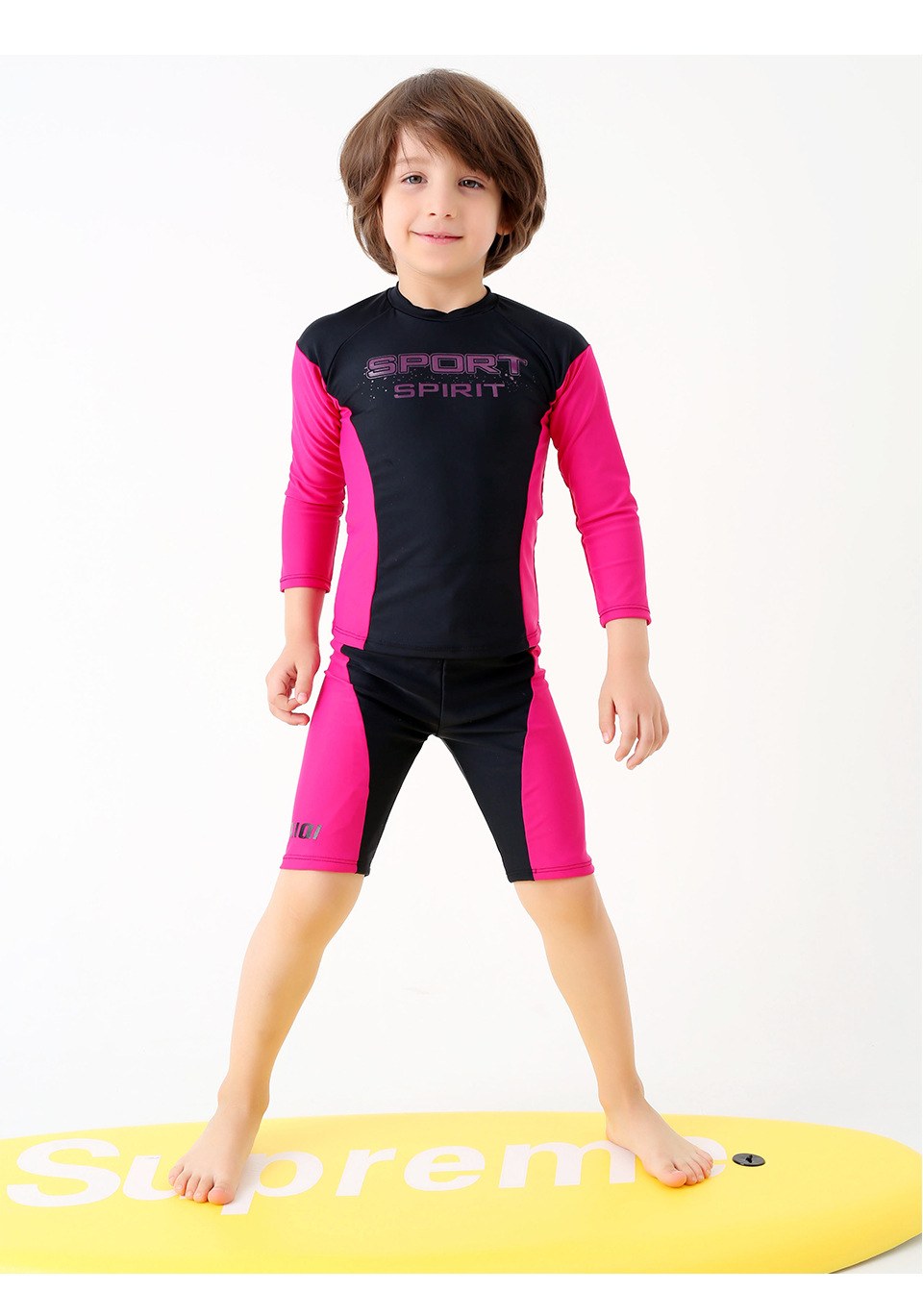 Competition Boy 2019 Swimsuit Two Piece Swimwear Child Bathing Suit Kids  Swimming Suit Beach Set Diving Suit Surfing Suit Black 158ddd618ae