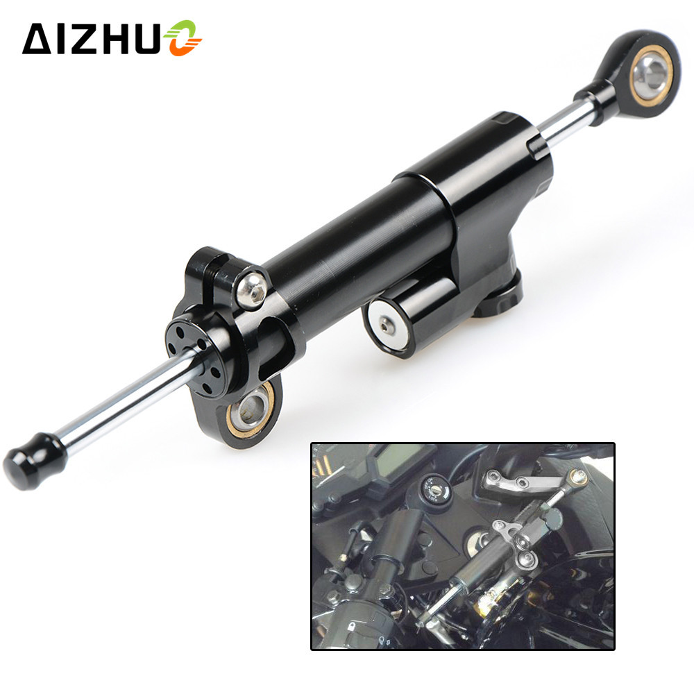 Universal Motorcycle Safety Damper Steering Stabilize Control Aluminum For HONDA CRF1000L CRF 1000L Africa Twin CB600F X-11 universal motorcycle damper steering stabilize safety control aluminum for honda crf1000l crf 1000l africa twin cb600f x 11