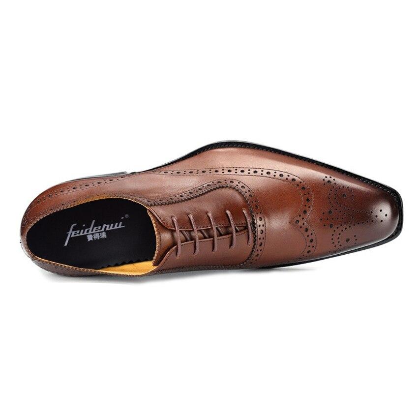 Preto Das Nas Mlt34 Size marrom 2018 Formal Vestido Asas Dedo Handmade Genuíno De Dos Apontado Couro Homens Casamento Pontas Festa Plus Oxfords Sapatos Esculpida Brogue PgOqwCw