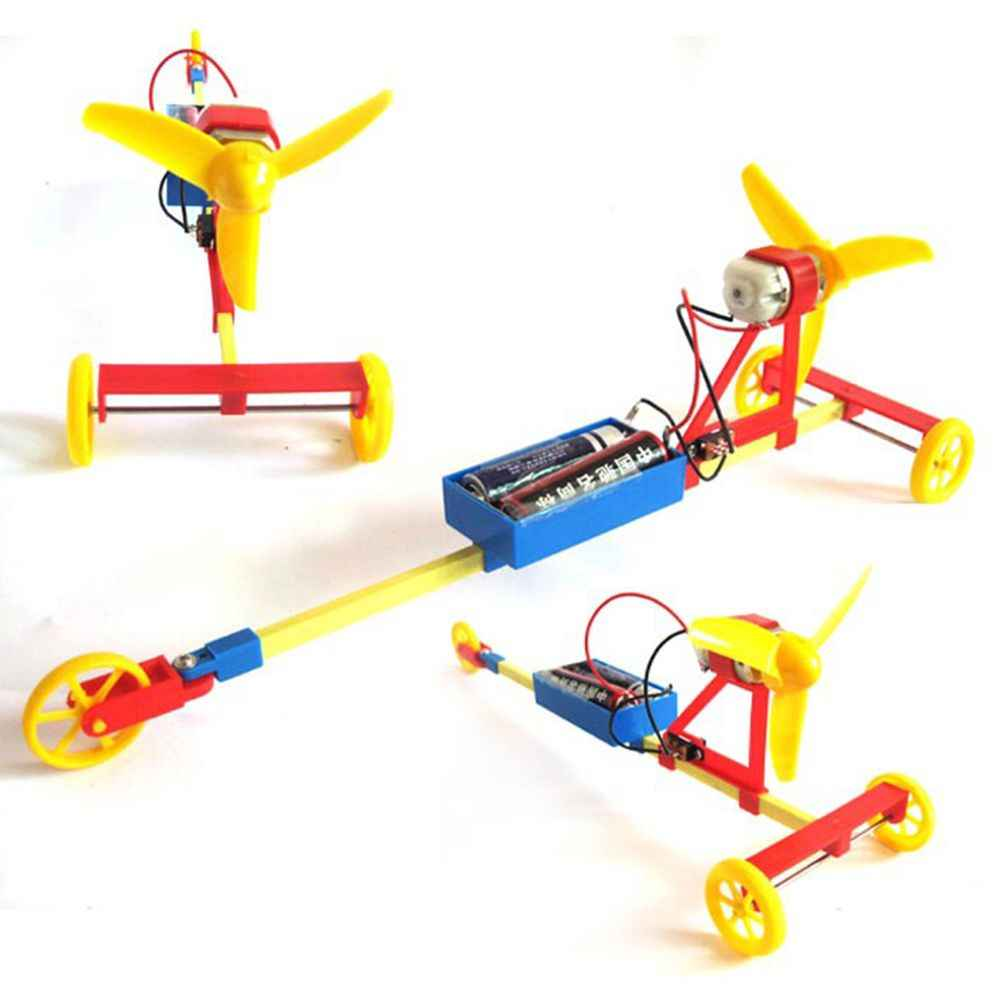 DIY Model Kit Learning Educational Assembly Kids Toys for Children School Propeller Wind Power Racing Car Experiment Kit Science